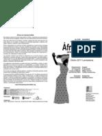 """Jornadas """"Al Sur del Sáhara. África Imprescindible"""" Programa 2011"""