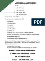 Penjualan Kios Pasar Mukmindo