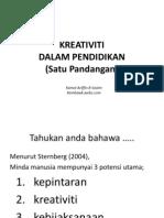 Kreativiti Dalam Pendidikan