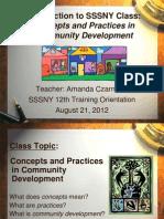 What is Community Development 2012