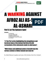 A Warning Against Afroz Ali Part 5