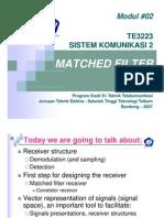 Modul 02 Siskom2 Matched Filter
