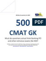GK Homework and 500 Questions