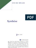 Le Patrimoine Des Menages (Synthèse) Conseil des prélèvements obligatoires - mars 2009