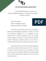 """Discours de Philippe SEGUIN sur """"Le patrimoine des ménages"""""""
