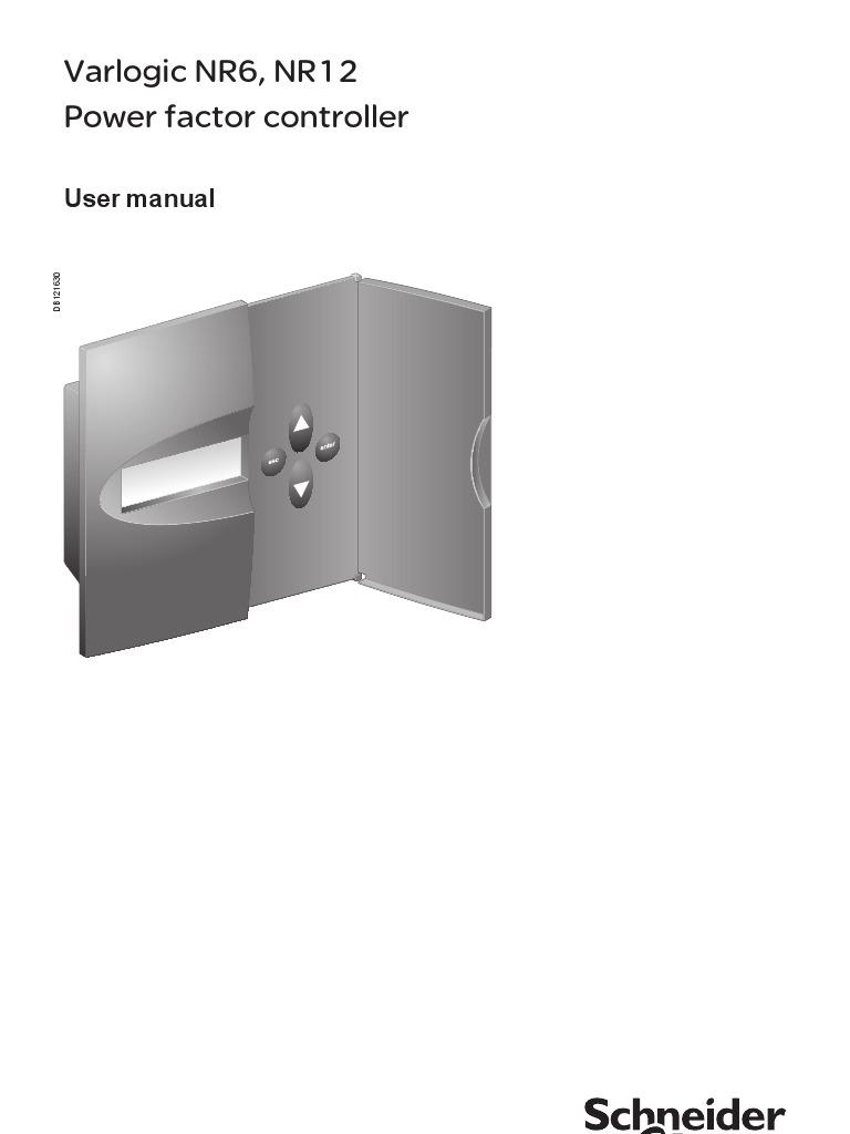Varlogic nr6, nr12. Power factor controller. User manual pdf.