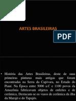 Artes Brasileira - apresentação em Slides