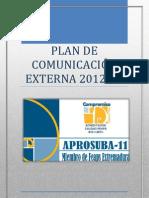 PLAN DE COMUNICACIÓN EXTERNA 2012
