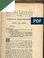 josé leite de vasconcelos [revista lusitana] 1923_história da língua portuguesa, origem e vida externa