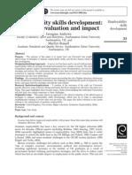 Employability Skills Development; Strategy, Evaluation and Impact