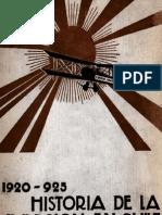 Historia de La Aviacion en Chile, 1913-1924, Tomo 2 1933