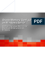 Oracle Memory Configuration for Windows