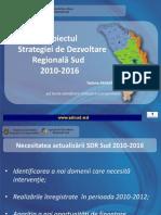 Prezentarea Strategiei de Dezvoltare Regională Sud