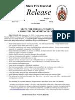 2012-09-24 Statewide Fire Prevention Checklist