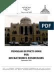 PROGRAM REPORTS BOOK FOR MECHATRONICS ENGINEERING ASU