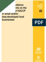 HACCP SLDB