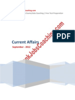 Current Affairs September 2012