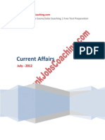 Current Affairs July 2012