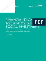 FINANCIAL PLANNERS  AS CATALYSTS FOR SOCIAL INVESTMENT