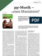 App-Musik – neues Musizieren? (Ü&M 5_11)