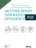 Getting ready for radical efficiency