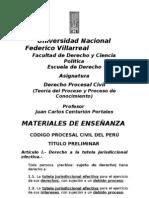 TITULO PRELIMINAR DEL CÓDIGO PROCESAL CIVIL DEL PERU  DE 1993