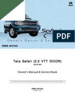 Tata Safari Dicor Manual (revised)