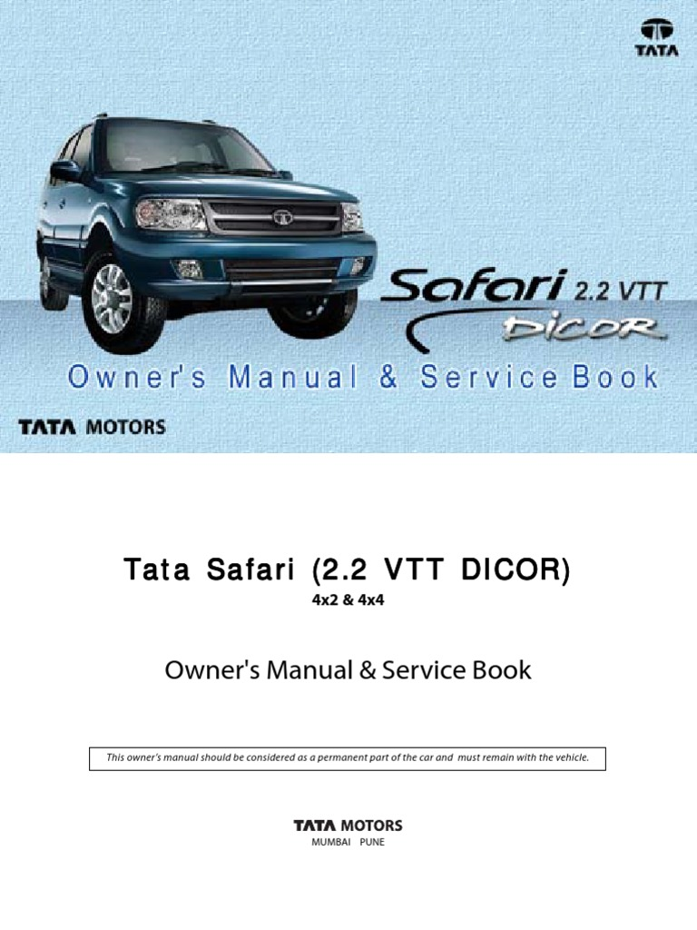 1509098300 tata safari dicor manual (revised) airbag seat belt tata safari dicor wiring diagram at creativeand.co