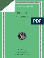 Philo Volume I on the Creation Allegorical Interpretation of Genesis 2 and 3