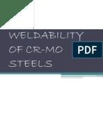 Weldability of Cr-mo Steels
