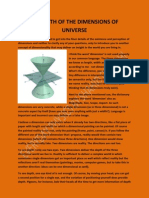 Dimensions of Universe - An Understanding