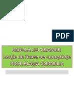 Regula Lui Cramer