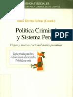 Rivera Beiras, Politica Criminal y Sistema Penal