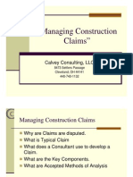 Managing Construction Claims