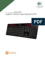 Manual Wireless Solar Keyboard k750 Gsw