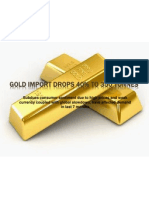 Gold Import Drops 40% to 350 Tonnes
