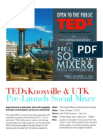 TEDx Pre-Launch Party & Press Conference