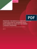 Prevención y Tratamiento por el VIH y otras ITS entre HSH y Personas Transgeneras.