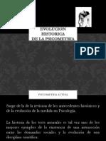 Evolucion Historica de La Psicometria