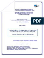 CONSORTIA A L'EXPORTATION ET STRATEGIE D'INTERNATIONALISATION DES PME/PMI