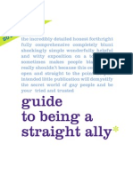The PFLAG National Straight for Equality Project's Guide to Being A Straight Ally