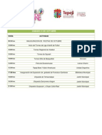 Programa Fiestas de Octubre Tepeji del Río 2012
