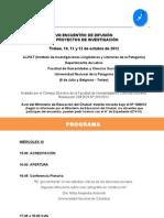 Programa Encuentro ILLPAT 2012