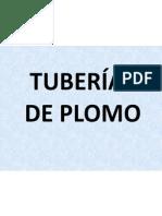 Tuberias de Plomo