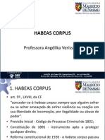 Aula x Constitucional IV Habeas Corpus