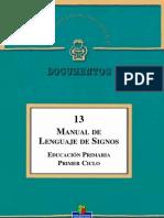Manual Lengua de Signos Educacion Primaria Primer Ciclo