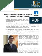 Aumenta la demanda de servicio de respaldo de información