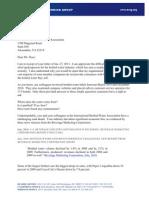 IBWA Letter