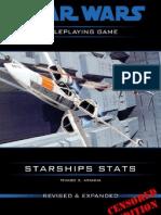 Star Wars D6 Starships Stats
