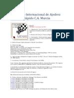 I Torneo Internacional de Ajedrez Rápido Murcia